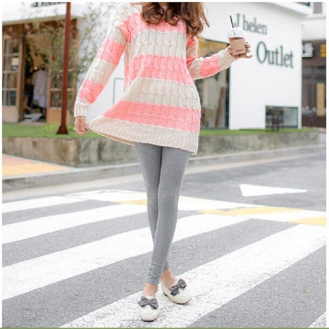 2016 Spring & Autumn new tamanho grande casual leggings maternidade Para as mulheres Grávidas importo calças barriga Magro cor sólida