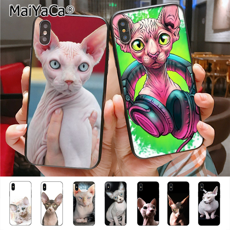MaiYaCa Tattoo Sphinx Cat Hot Printed Cool Phone Accessories Case for i