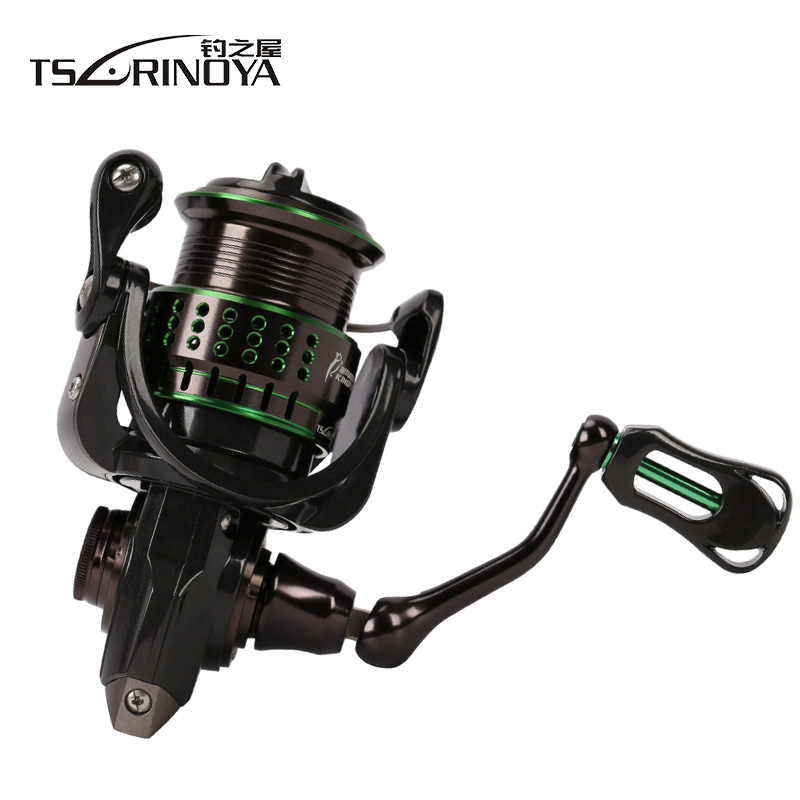 цена TSURINOYA KINGFISHER 800/1000 Spinning Fishing Reel 11BB/5.2:1/4Kg Metal Spool Light Weight Carbon Body Lure Reel Peche Molinete