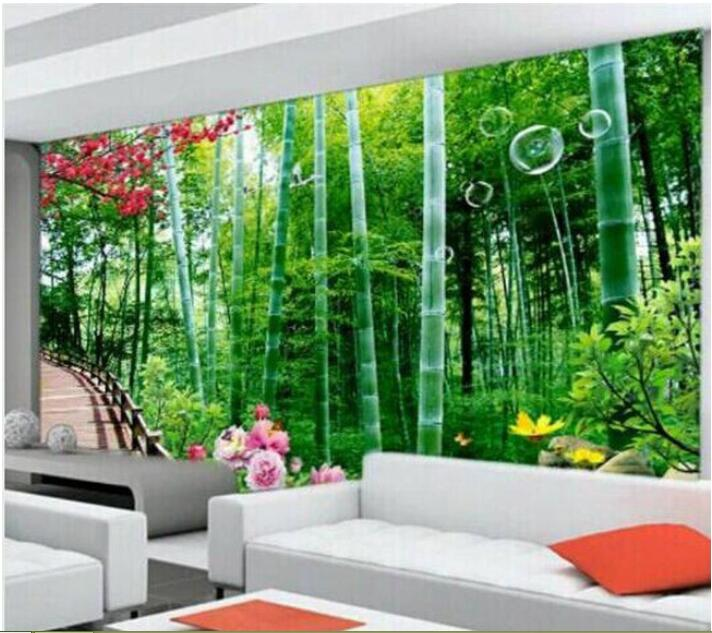3d Wallpaper Custom Mural Non Woven Wall Stickers Bamboo Scenery