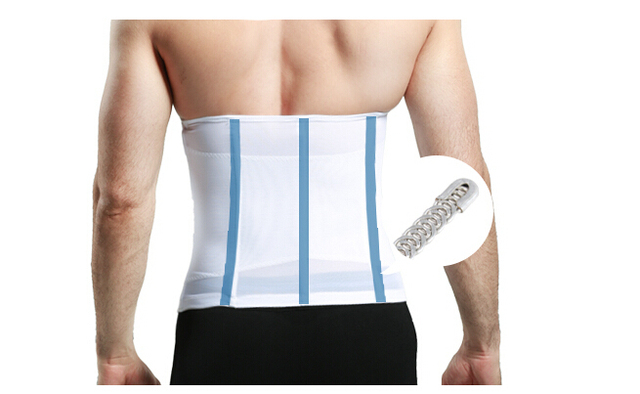 plus size new men fashion waist support cinchers fitness belly control girdle slimming tummy trimmer back support belt