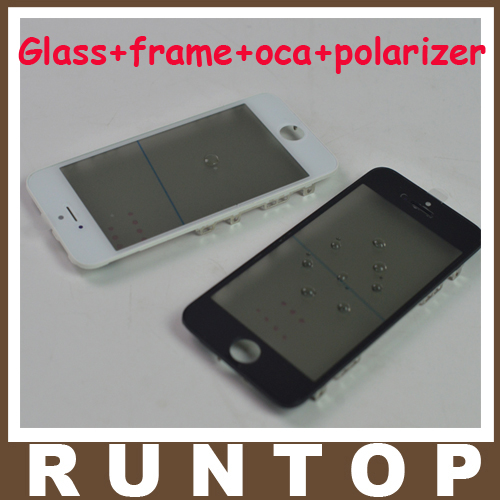 1pcs  High Quality   A+ LCD Front Touch Screen Glass Outer Lens with Frame + OCA + Polarizer for iphone 6s 7 plus 10 pcs front lcd frame with hot melt glue for iphone 6s 4 7 inch touch screen bracket housing middle bezel white black