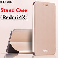Xiaomi Redmi 4x Case Xiaomi Redmi 4x Case Leather Cover Flip Luxury Black Mofi Ultra Thin