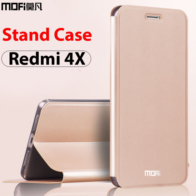 xiaomi redmi 4x case xiaomi redmi 4x case leather cover flip luxury black mofi ultra thin folio stand funda xiaomi redmi 4x case