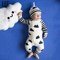 ÉL Hola Disfrutar de mamelucos Del Bebé para las niñas otoño 2016 ropa de bebé recién nacido Animal prints Verde Mameluco recién nacido ropa unisex