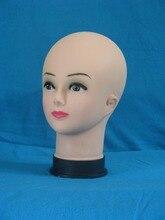4PCS/Lot Super Quality Female Bald Mannequin Head Model Wig Hat Jewelry Display Cosmetology Manikin
