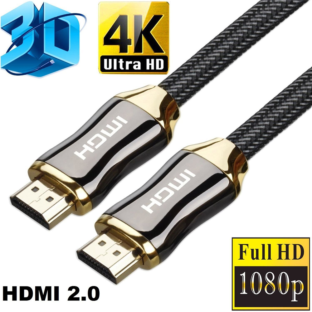 High Quality 2.0 Version 4K HDMI To HDMI Cable For HD TV LCD Laptop Computer Zinc Alloy Braided HDMI HD cable 1.8M/3M/5M/10M