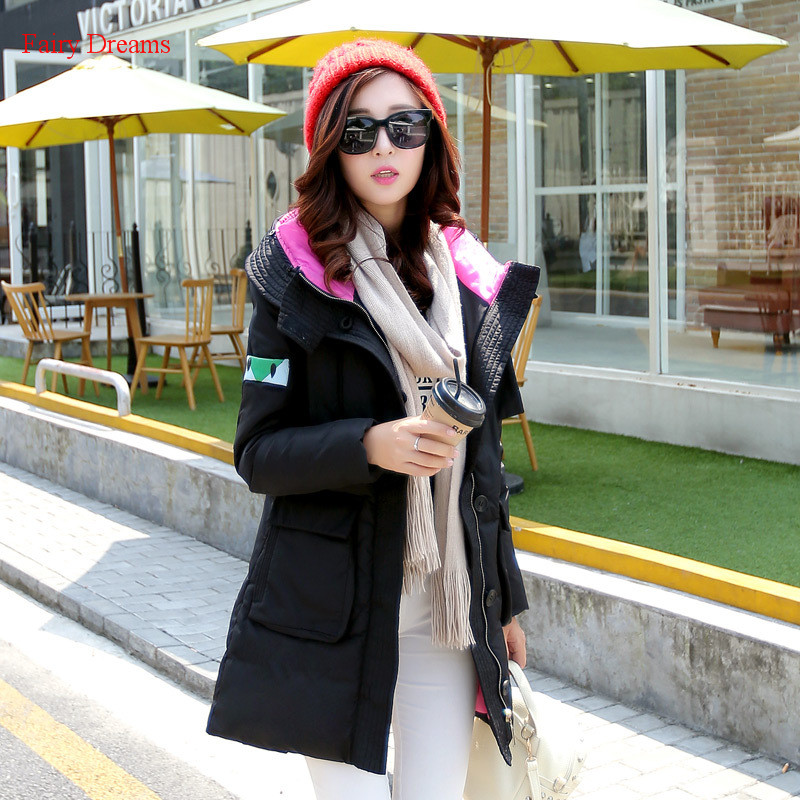 Fairy Dreams Womens Jacket Woman Made Of Goose Feather Female Black Winter Coat Down Parka Plus Size Clothes 2017 New Arrival