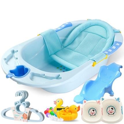 Banheira de Banho do Bebê Suprimentos do Bebê Recém-nascido Ajustável Crianças Banheira Grande Espessamento Chuveiro Almofada Segurança Assento Apoio