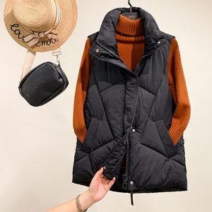 Image 4 - PinkyIsBlack Stand Collar Women Winter Vests 2020 New Short Vest Cotton Padded Jacket Sleeveless Female Winter Waistcoat Vest