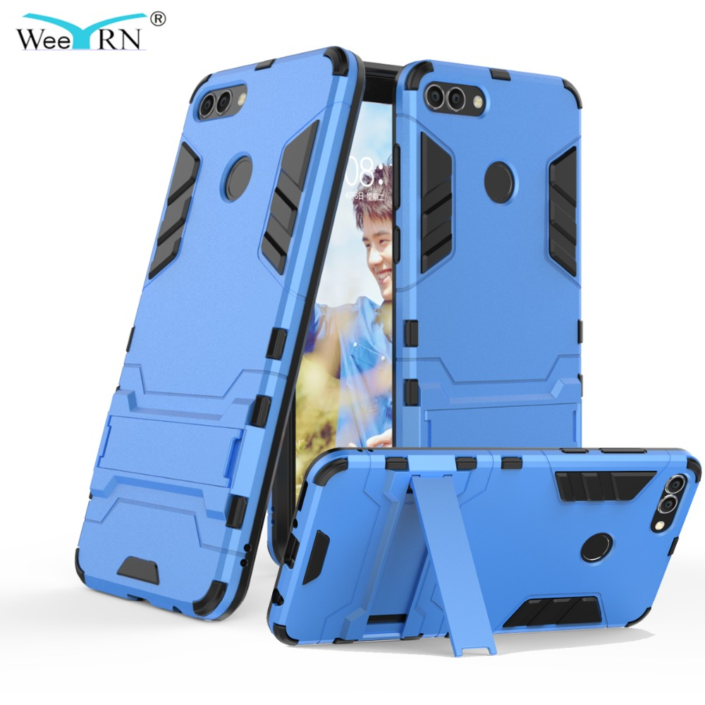 check out 9d3a8 283b8 Armor Hard Stand Heavy Duty Protection 360 Hybrid Case For Huawei Y9 Back  Cover Case Huawei Y9 (2018) Enjoy 8 Plus Fundas