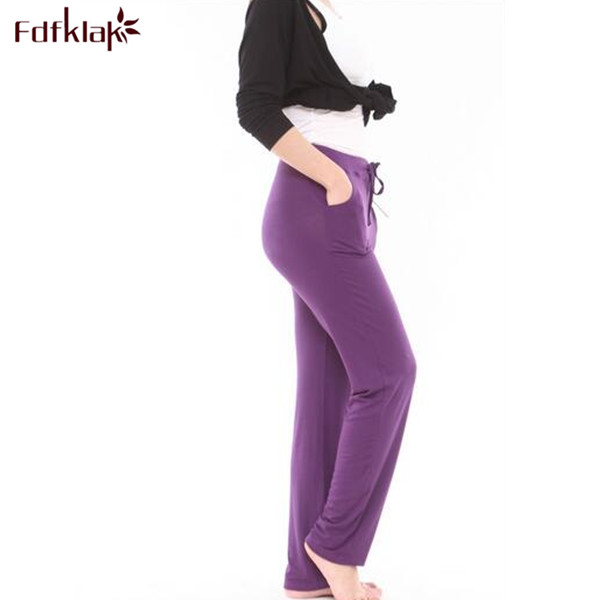 XL-4XL Plus Size Pijama Pants Spring Women Pajama Pants Home Wear Bottoms Ladies Cotton Pant Sleepwear Womens Sleep Pant Q208 ...