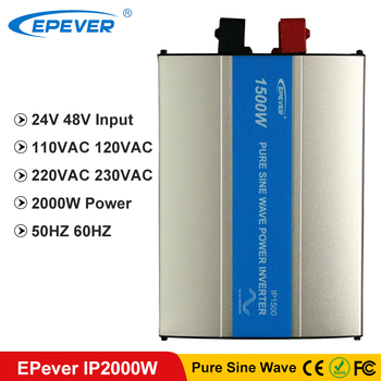 цена на EPever 2000W Pure Sine Wave Inverter 24VDC 48VDC Input 110VAC 120VAC 220VAC 230VAC Output 50HZ 60HZ Off Grid Inverter  IPower