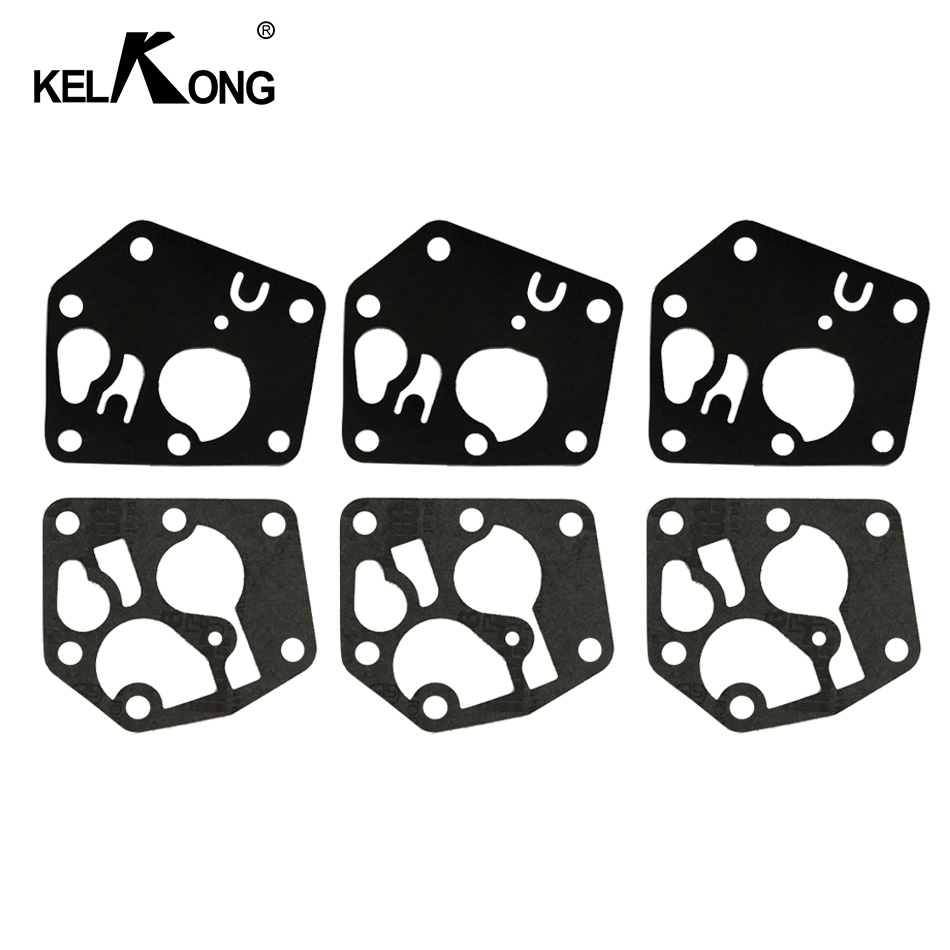 KELKONG 3 Sets Carburetor Diaphragm Gasket Kit For <font><b>Briggs</b></font> & Stratton 495770 <font><b>795083</b></font> 5083H AE0588 5083K 7721 520175 image
