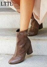 2016 Retro style Gladiator spring autumn women short boots side zip fashion free style women s
