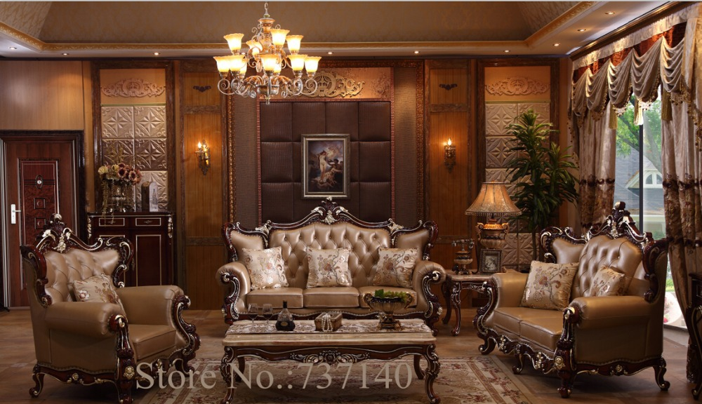 Oak Antique Furniture Style Sofa Luxury Home Baroque European Set
