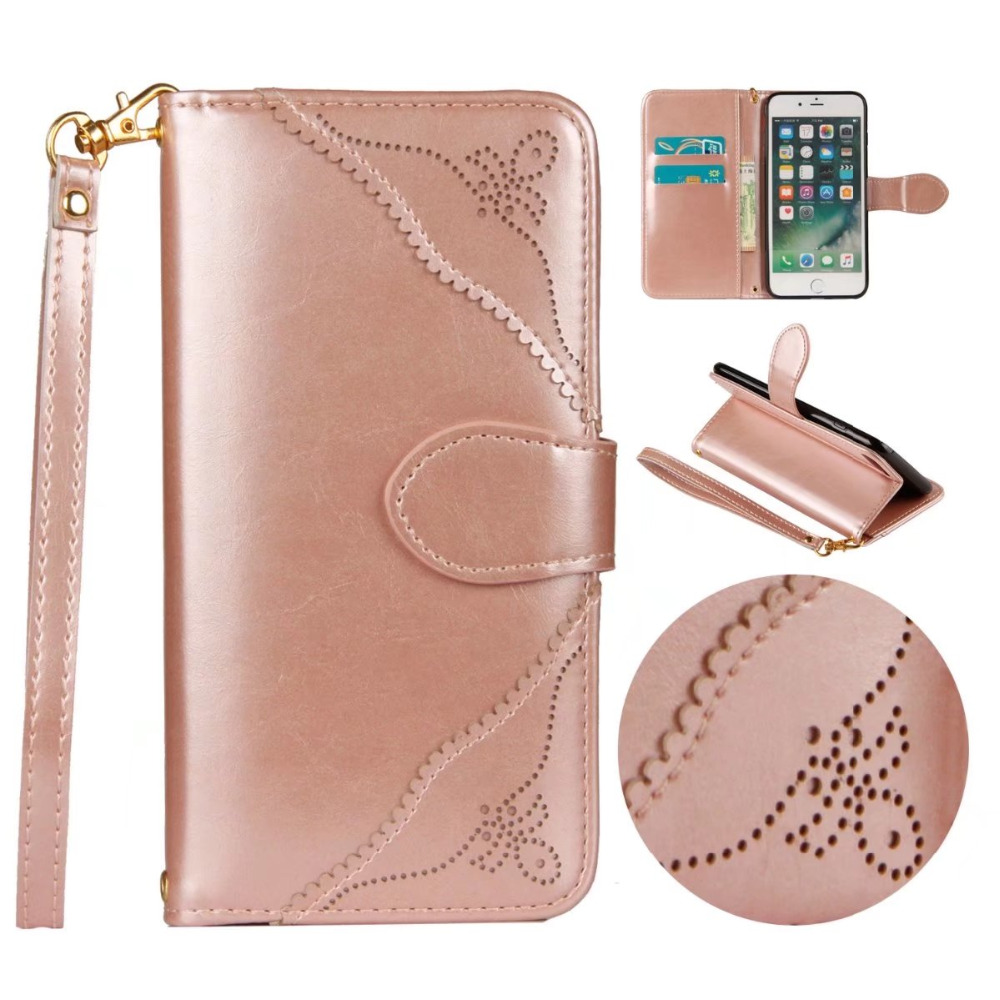For iPhone 6 6s 7 8 plus High Quality Leather Phone Cases For Samsung Galaxy Note 8 s8 s9 plus Women Wallet Case For iPhone X