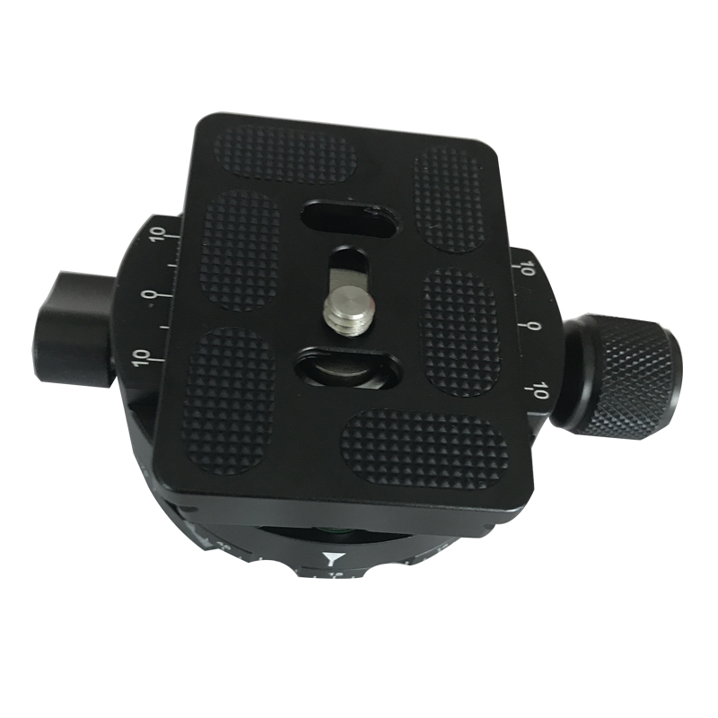 3/8 Screw Panoramic ball head clamp + PU60 quick release plate for the tripod Digital camera