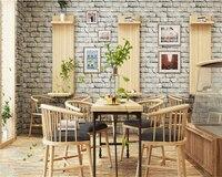 Beibehang Classic PVC Brick Wall 3d Wallpaper Clothing Store Hotel Background Wall Imitation Brick Wallpaper Papel