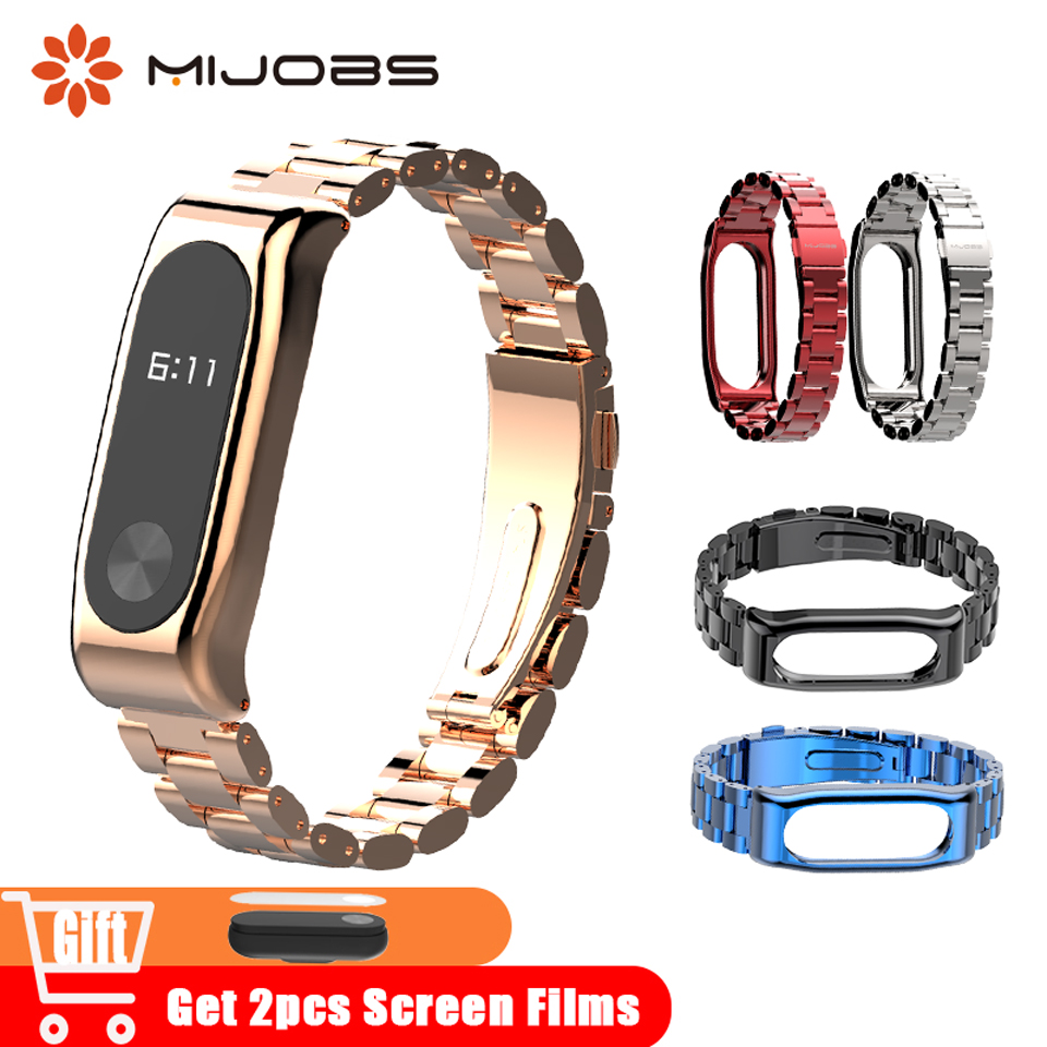 Mijobs Mi Band 2 Wrist Strap Metal Stainless Steel for Xiaomi Mi Band 2 Smart Accessories Bracelet Watch Miband 2 Band WristbandMijobs Mi Band 2 Wrist Strap Metal Stainless Steel for Xiaomi Mi Band 2 Smart Accessories Bracelet Watch Miband 2 Band Wristband