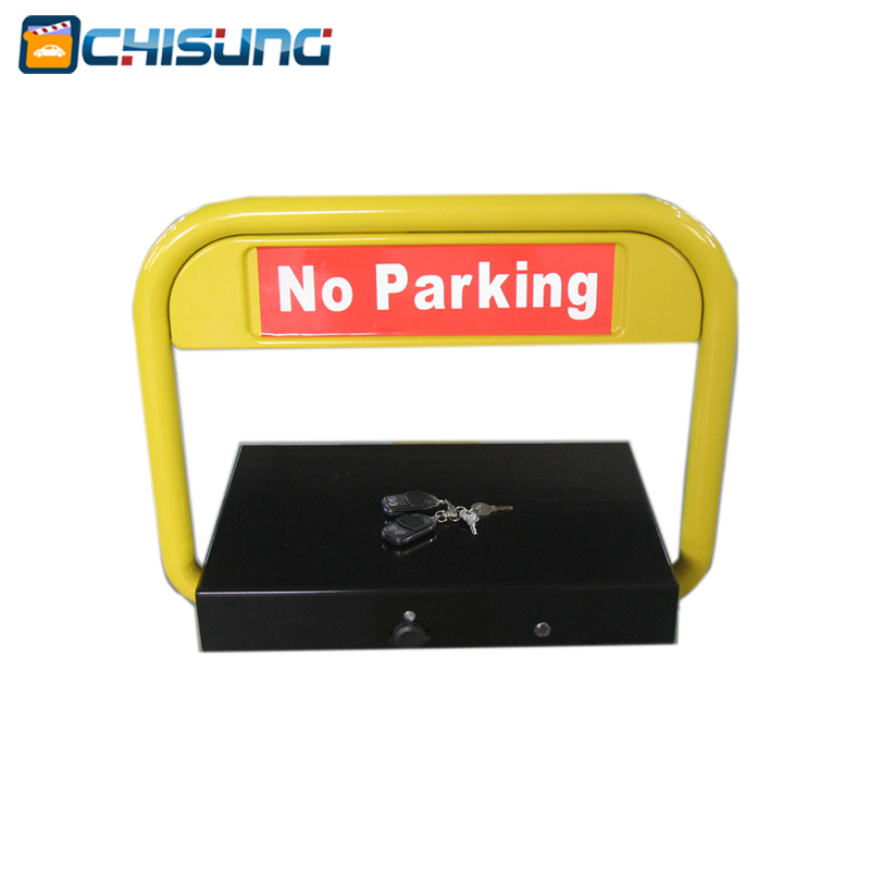 Remote Control Solar Parking Bay Barrier/solar energy parking barrier With Battery Backup half ring shape of the block machine parking barrier lock
