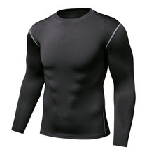 Exercise wear Men Autumn winter Net color basketball workout clothes running compression quick-drying long-sleeved T-shirt