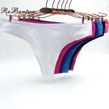 Rebantwa lingerie de calcinha feminina, 10 peças de calcinha íntima para mulheres, roupa íntima de algodão, tanga, corda g