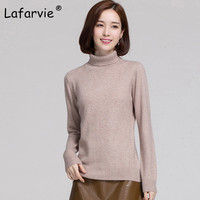 Lafarvie High Quality Cashmere Sweater Women Tops Autumn Turtleneck Long Sleeve Pullover Female Casual Knitted Sweaters