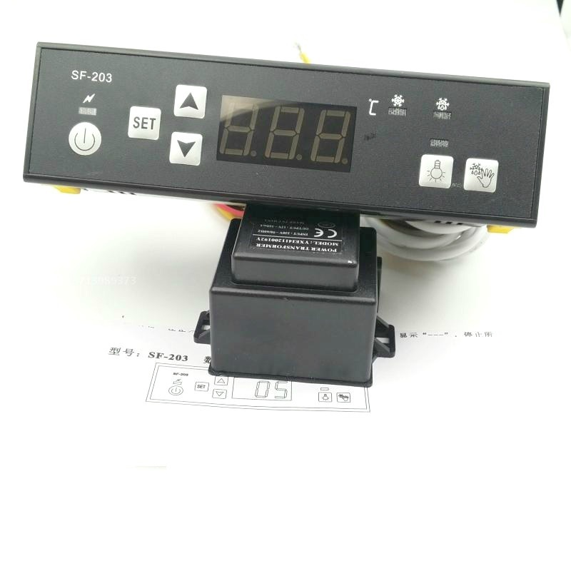 SF-203 Freezer Digital display thermostat,Temperature controller Brand new sf 104b thermostat controller electronic temperature thermostat freezer temperature control instrument of frost temperature 30a