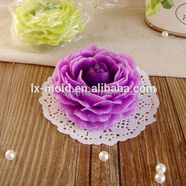 3d peony flower handmade silicone soap mold