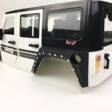 1Set Simulated Wheel Eyebrow Car Shell Flare Fender Side Body Mudguard Mud Guard for 1/10 Wrangler RC Modified