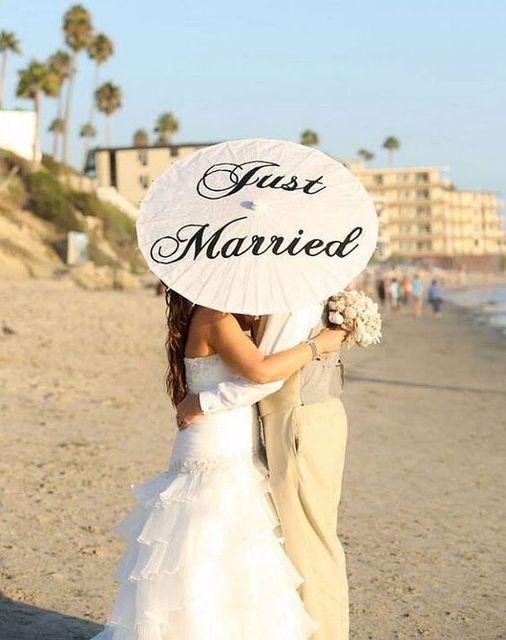 Papel blanco Boda Paraguas Parasol Just Married Mr & Mrs Gracias Boda Paraguas de Sol umbrlla Moda Accesorios de Boda