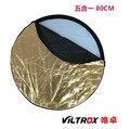 Viltrox 5in1 refletor equipamento fotográfico de 80 cm a placa de prata preta 5 cores