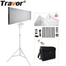 Luce dimmerabile di fotografia di Travor LED 1x3 30*90cm luce flessibile del tessuto 576pcs LEDs 5500K con telecomando 2.4G e borsa
