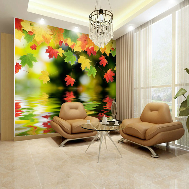 Free Shipping Custom Large Landscape Wall Painting Wallpaper Tv Background Sofa Bedroom Living
