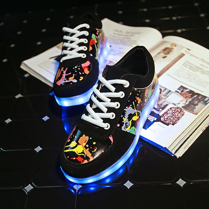 Image 4 - KRIATIV Slippers Led Usb Kids Light up shoes Led girl shoes infant tenis simulation Slippers do with Lights Up Luminous Sneakers-in Sneakers from Mother & Kids