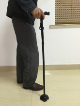 Walking Cane with LED Light T-Handle Aluminum Alloy