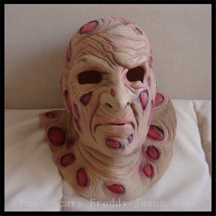 Freddy krueger Mask deluxe Overhead Scary mask Adult Party Costume Horror Design Wholesale Carnaval Party Costume Jason Mask