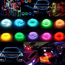 Led Strip Waterproof 1/2/3/5M LED 12V Decoration Neon EL Wire Cable Lamp Glow String Light Tube Lights