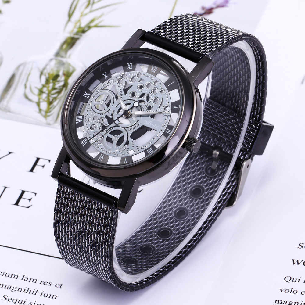 Men Luxury Stainless Steel Quartz Military Sport Plastic Band Dial Wrist Watch 2018 Reloj hombre Horloges Mannen brand watches