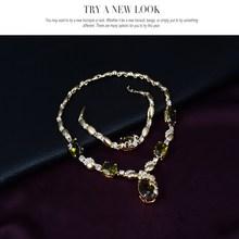 Cindiry Jewelry Sets European Style Statement Necklace Earrings Bracelet Rings Women Wedding Bridal Accessories