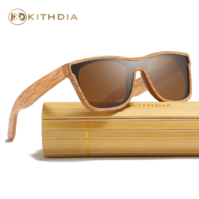 Kithdia Brand New Arrived Natural Wood Sunglasses Polarized With Bamboo Box and Support DropShipping Provide Pictures KD205 in Men 39 s Sunglasses from Apparel Accessories