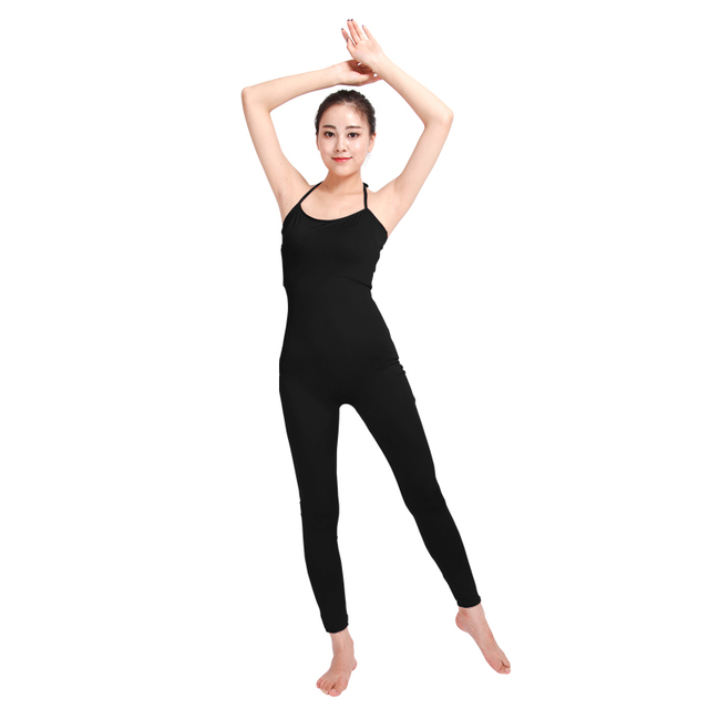 4d3612b0b Ensnovo Women Ladies Ballet Dance Costumes Black Unitards for Girls ...