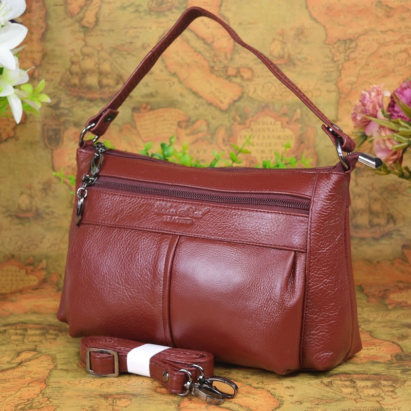 Hot sale High quality Genuine leather small messenger bags for  ladies shoulder bags female cowhide shopping packs single should hot sale good quality inductive
