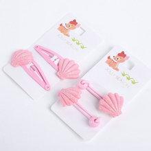Student Girls hair accessories kids Hairpins cartoon Hair snap Clips Elastic hair rubber bands children barrette hair ring  T7