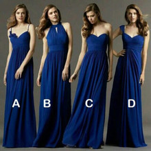 Royal Blue Bridesmaid Dresses Sexy Spaghetti Strap Long Dresses For Wedding Party Cheap Wedding Party Dress