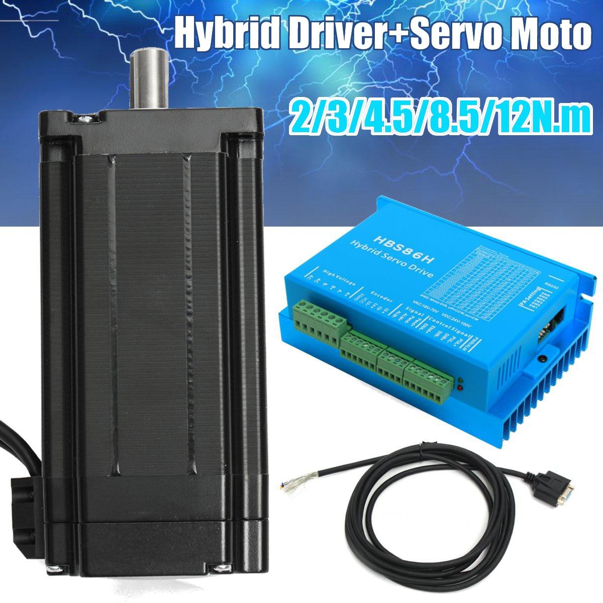 CNC HSS86 Hybrid Driver Servo Stepper Motor 12N.m Closed Loop 86HSE12N-B32