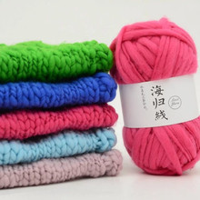 200g /lot High Quality  Natural Cotton Coarse wool Yarn Soft Organic Baby Knitting Wool Worsted Yarn-For-Knitting Scarf Coat