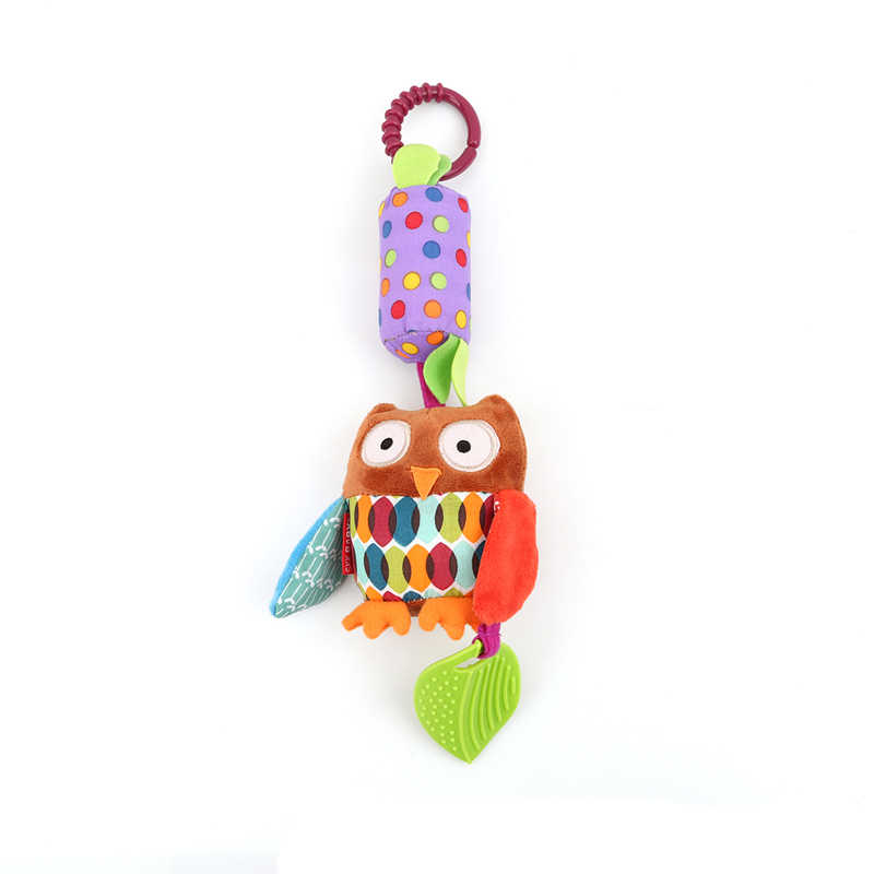 1 Pc New Classic Baby Toys Mobiles Child Wind Rattle Rings Animal Toys Baby Newborn Stroller Bed Hanging Plush Toys