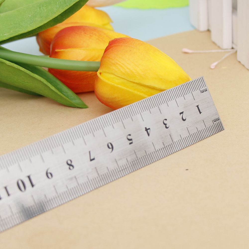 Limit Shows 30cm  High Quality Stainless Steel Silver Straight Ruler Measurement Ring Tools Trendy Stationery For Drawing